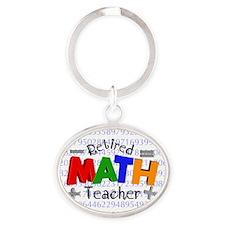 Retired Math Teacher BLANKET Oval Keychain