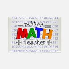 Retired Math Teacher BLANKET Rectangle Magnet