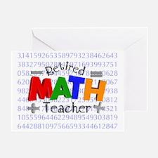 Retired Math Teacher BLANKET Greeting Card