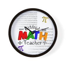 Retired Math Teacher 1 Wall Clock
