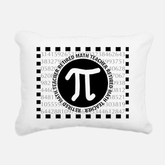 RETIRED MATH TEACHER THR Rectangular Canvas Pillow