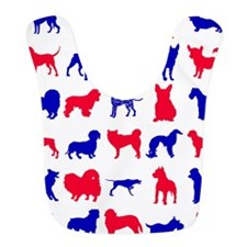 Red White And Blue Patriotic Doggie Silhouettes