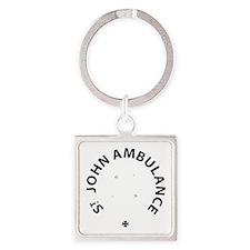 St John Ambulance Square Keychain