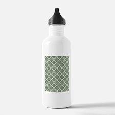 Quatrefoil TD White Me Water Bottle