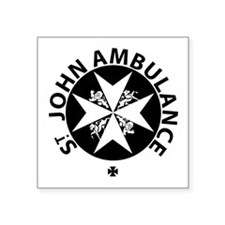 "St John Ambulance Square Sticker 3"" x 3"""