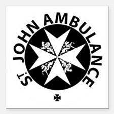 "St John Ambulance Square Car Magnet 3"" x 3"""