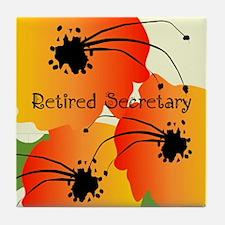 Retired Secretary 1 Tile Coaster