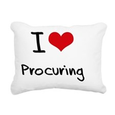 I Love Procuring Rectangular Canvas Pillow