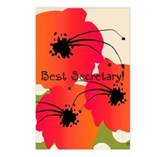 Best Secretary Postcards (Package of 8)