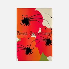 Best Secretary Rectangle Magnet