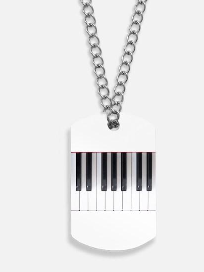 Piano Keyboard 5 Dog Tags