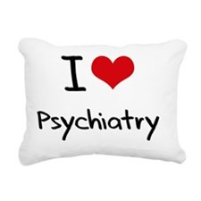I Love Psychiatry Rectangular Canvas Pillow