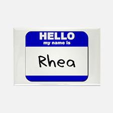 hello my name is rhea Rectangle Magnet