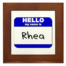 hello my name is rhea  Framed Tile