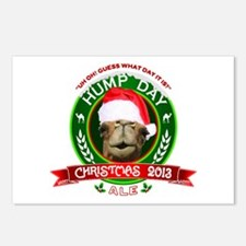 Hump Day Camel Christmas Ale Label Postcards (Pack