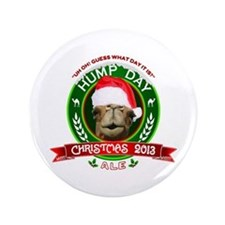 """Hump Day Camel Christmas Ale Label 3.5"""" Button"""