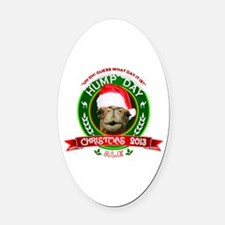 Hump Day Camel Christmas Ale Label Oval Car Magnet