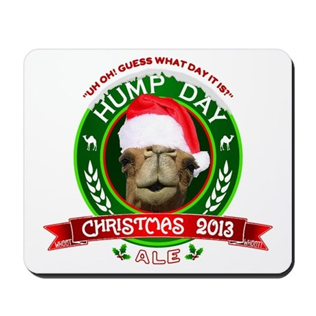 Hump Day Camel Christmas Ale Label Mousepad