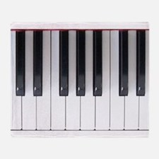 Piano Keyboard 5 Throw Blanket