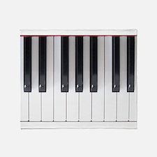 Piano Keyboard 5 Throw Blanket