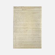 US Constitution Rectangle Magnet