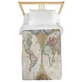 Old maps Twin Duvet Covers