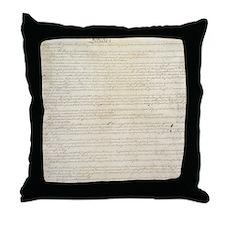 US Constitution Throw Pillow