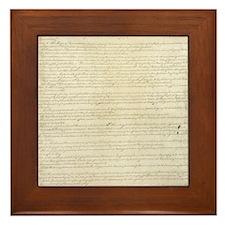 US Constitution Framed Tile