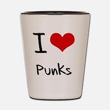 I Love Punks Shot Glass