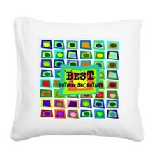 Retired Secretary pillow 5 Square Canvas Pillow