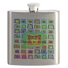 Retired Secretary pillow 5 Flask