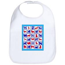 Red White And Blue Plaid Patriotic Doggie Bib
