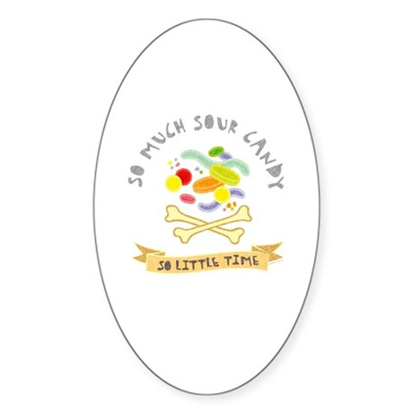 Sour Candy Lover Oval Sticker