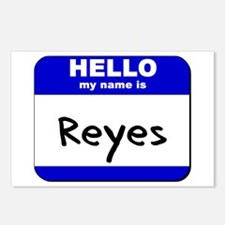 hello my name is reyes  Postcards (Package of 8)
