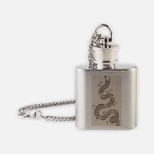 Ben Franklin Join or Die Flag Flask Necklace