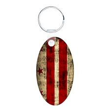 Washington DC Flag Grunge Keychains