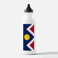 Denver Colorado Flag Water Bottle