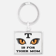 T Is For Tiger Mom Landscape Keychain