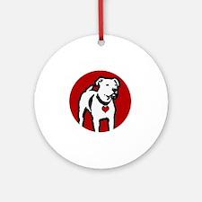 Response-a-Bull Rescue Logo - Black Round Ornament