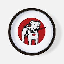 Response-a-Bull Rescue Logo - Black Wall Clock
