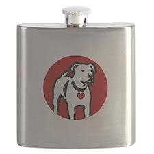 Response-a-Bull Rescue Logo - Black Flask