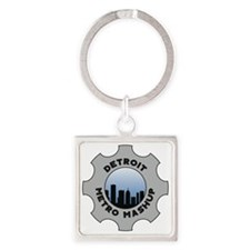 Detroit Metro Mashup Logo Square Keychain