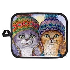 The knitwear cat sisters Potholder