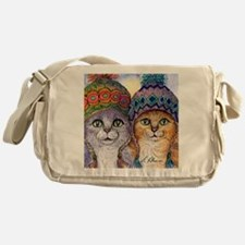 The knitwear cat sisters Messenger Bag
