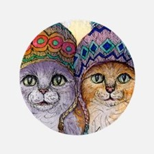 """The knitwear cat sisters 3.5"""" Button"""