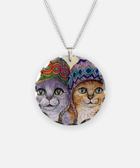 The knitwear cat sisters Necklace