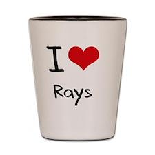 I Love Rays Shot Glass