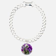 Purple flower photo Bracelet