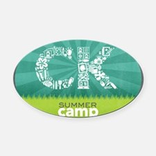 CK Summer Camp 2013 Logo Oval Car Magnet