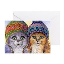 The knitwear cat sisters Greeting Card
